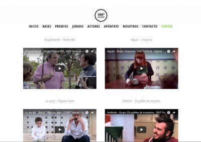 360º Festival - Imagen corporativa - Web
