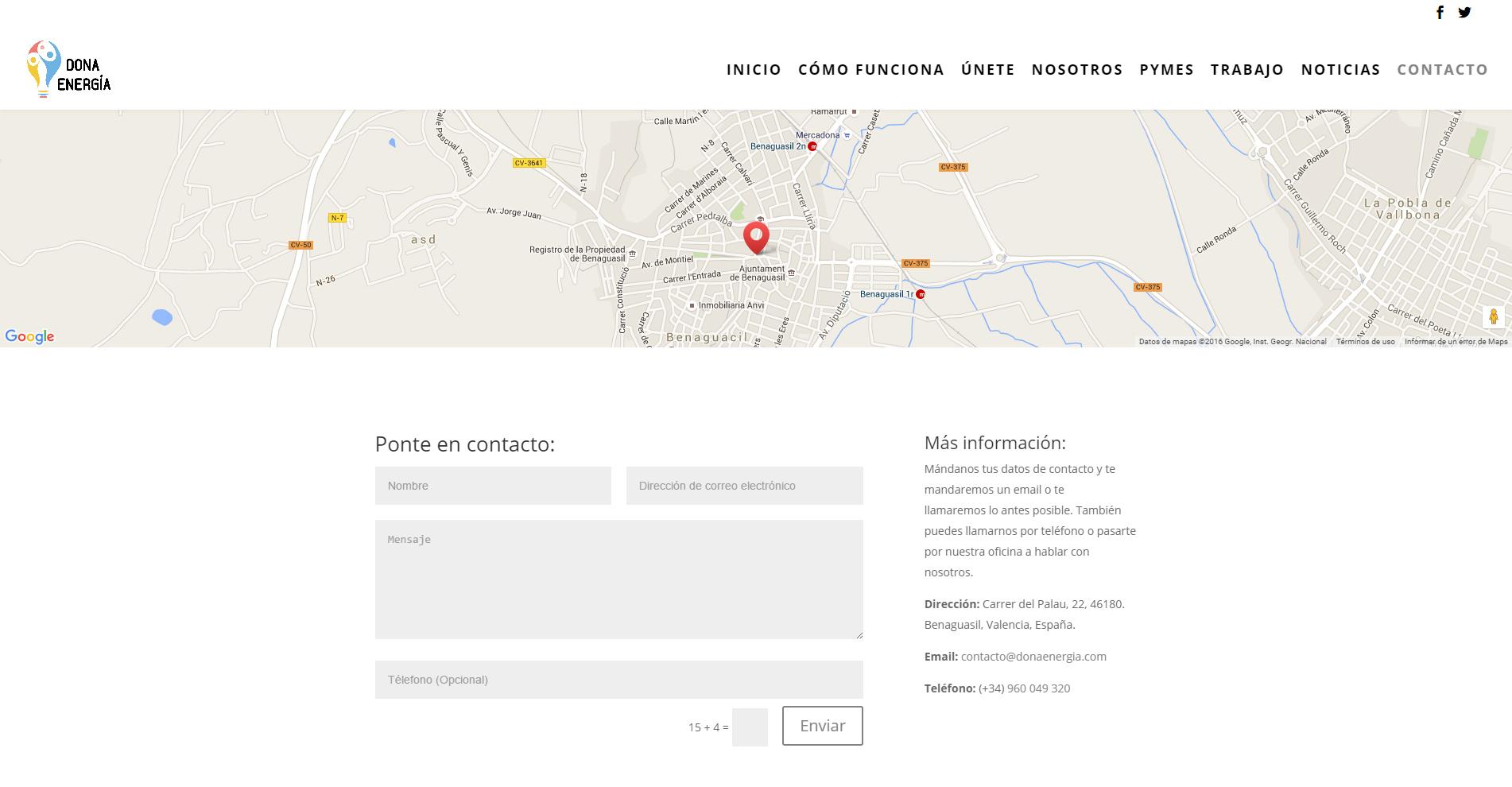 Dona Energía - Diseño gráfico - Web