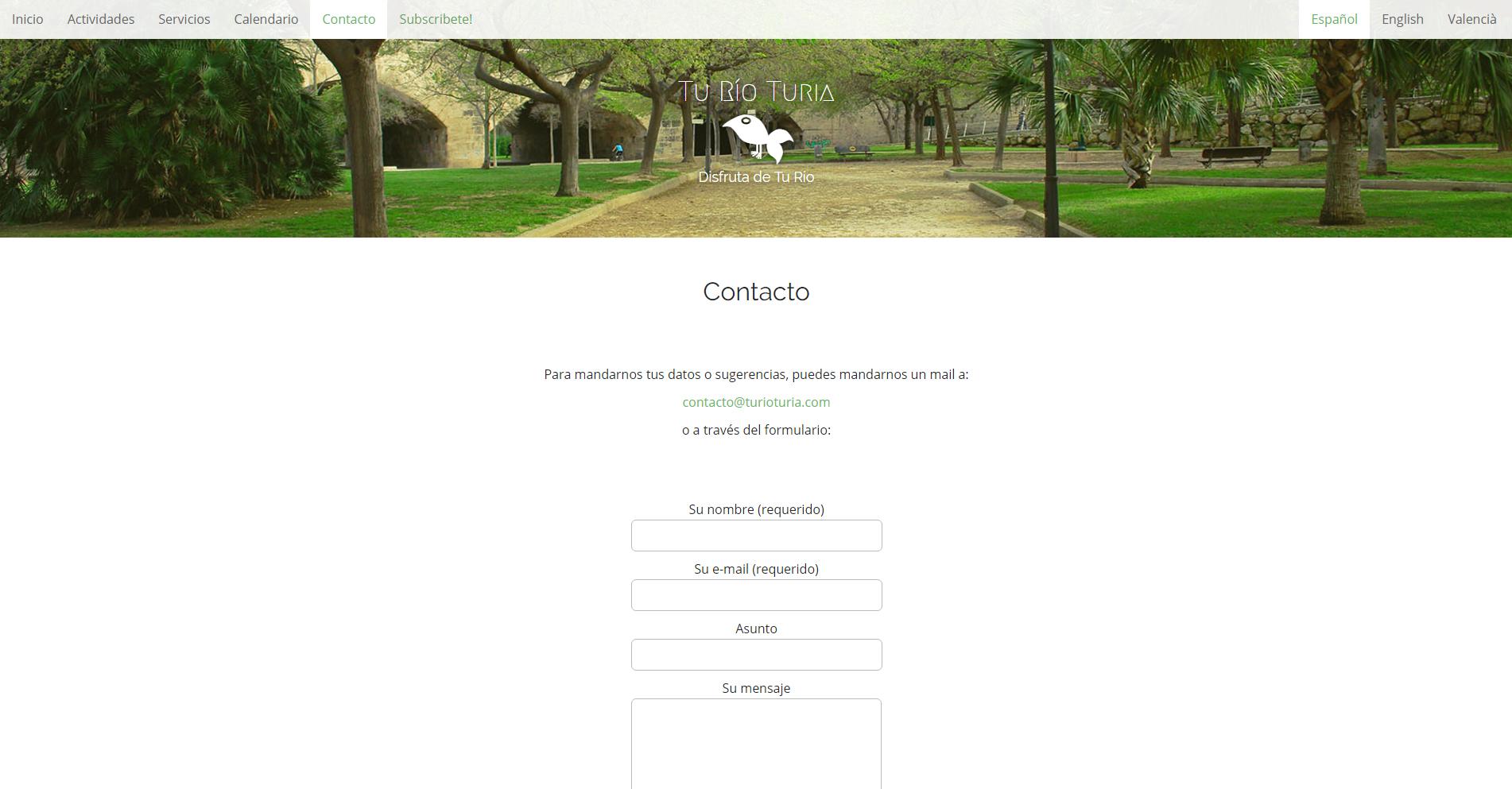 Tu río Turia - Imagen corporativa - Web